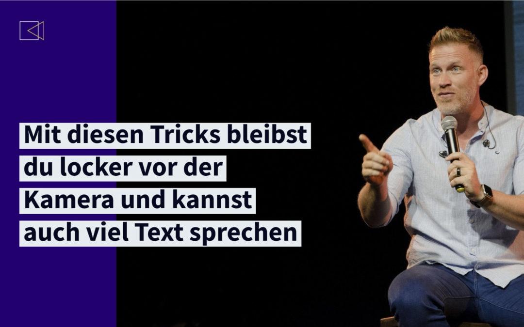 Mit diesen Tricks sprichst Du ohne Probleme lange Texte vor der Kamera